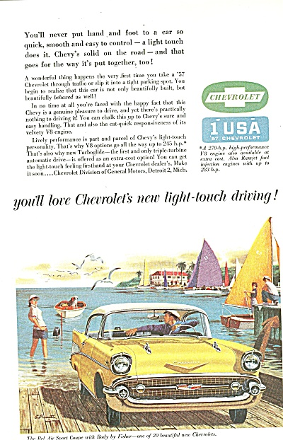 Chevrolet Automobile Ad 1957