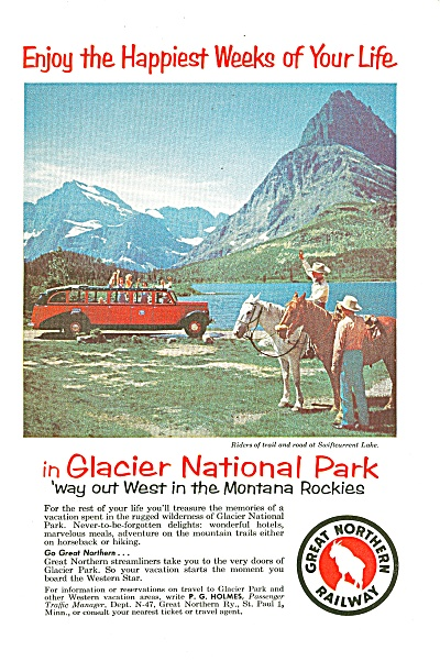 Great Northern Railway Ad 1957