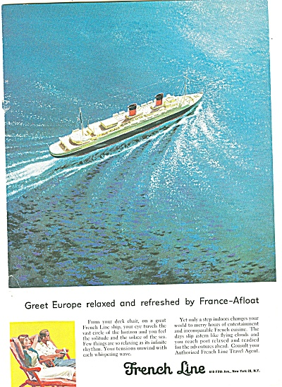 French Line Ad - 1957