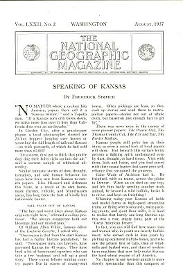 Speaking Of Kansas - 1937
