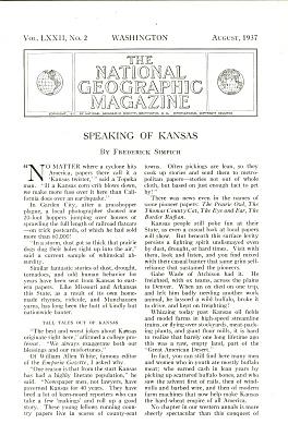 Speaking of KANSAS  - 1937 (Image1)