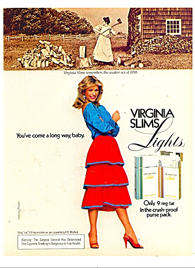 Virginia Slims lights cigarette ad - 1980 (Image1)