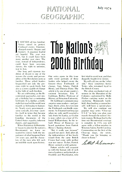 Story: THE NATION'S 200TH BIRTHDAY -1974 (Image1)