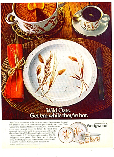 Wedgwood dishes ad  1980 (Image1)