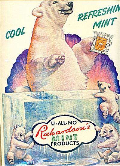 Richardson's mint products ad 1940 (Image1)
