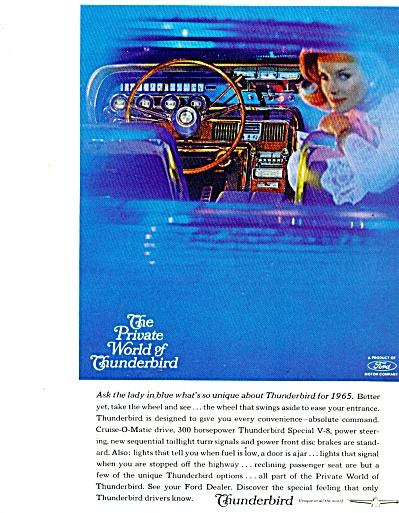 Thunderbird automobile ad 1965 (Image1)