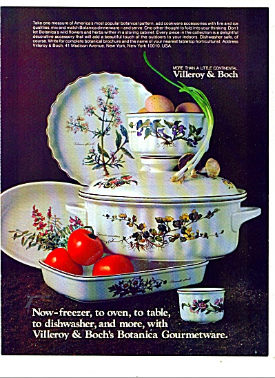 Villeroy & Boch's Botanica gourmetware   1980 (Image1)