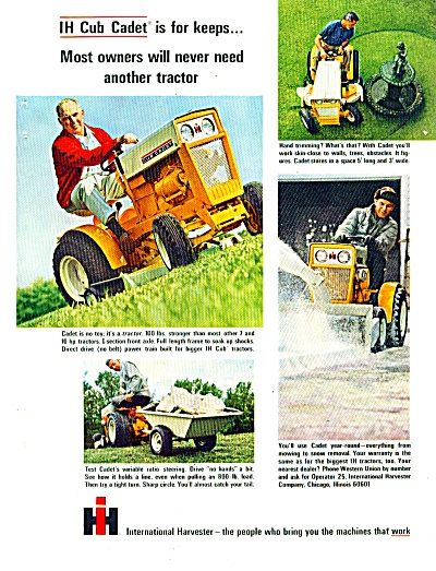 International Harvester tractor, lawn  ad1965 (Image1)
