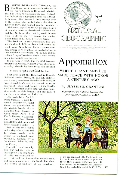 APPOMATTOX - End of Civil war story 1965 (Image1)