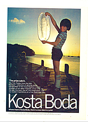 Kosta Boch crystal ad 1980 (Image1)