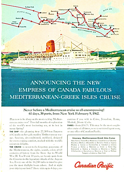 Canadian Pacific liner ad 1961 (Image1)