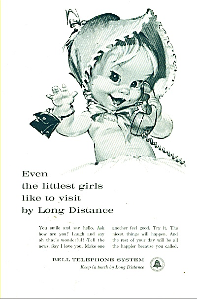 Bell Telephone system ad 1961 LITTLE GIRL (Image1)