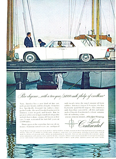 Lincoln Continental Auto - 1961 Ad