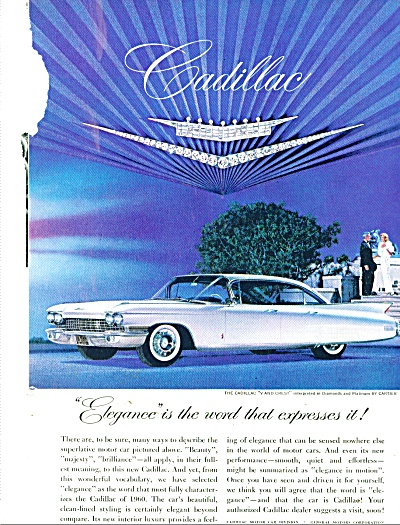 Cadillac Auto For 1960 Ad