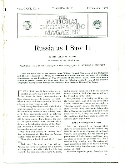 RUSSIA AS I SAW IT by V.P. Richard Nixon 1959 (Image1)