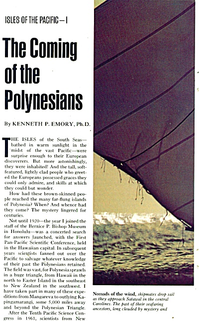 The Coming of the POLYNESIANS  story -1974 (Image1)