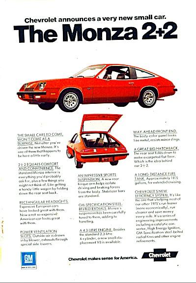 Chevrolet Monza 2 +2 ad  1974 (Image1)