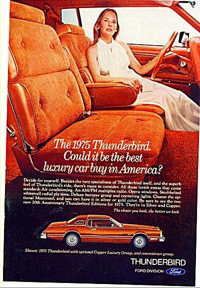 Ford Thunderbird auto ad 1974 (Image1)