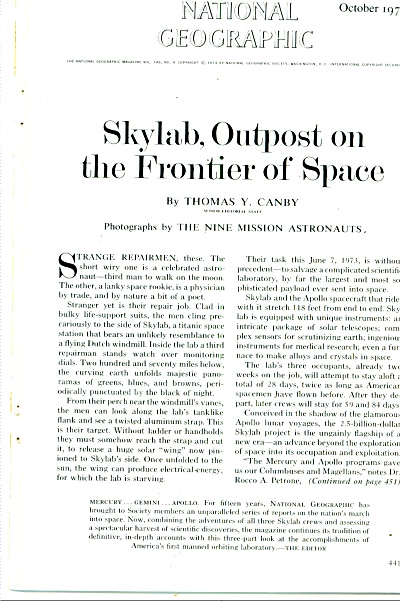 Skylab, Outpost On The Frontier Of Space - 74