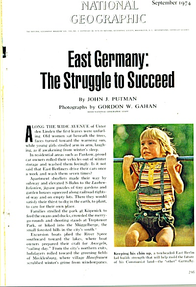 EAST GERMANY -The struggle to succeed 1974 (Image1)