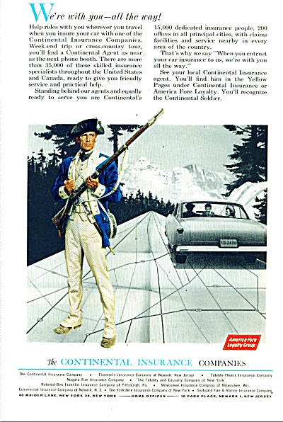 The continental insurance companies ad 1963 LOYALTY (Image1)