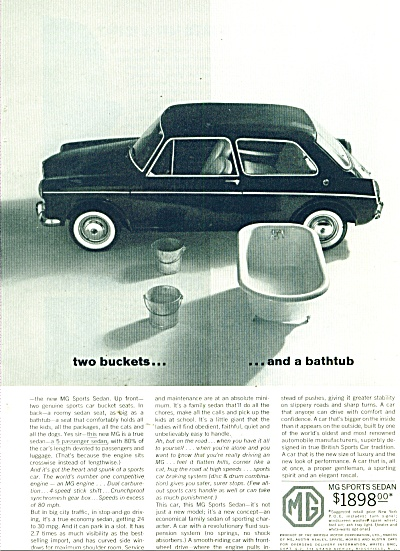 MG sports Sedan auto ad 1963 (Image1)