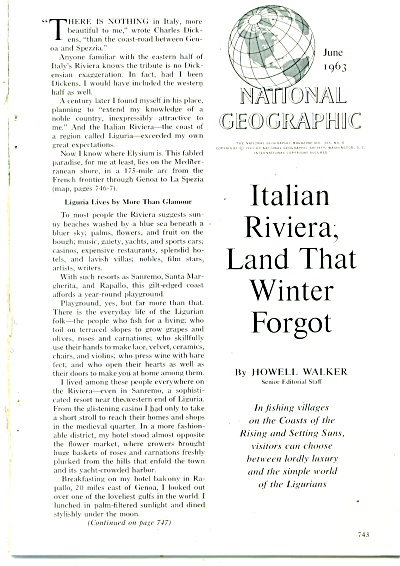 ITALIAN RIVIERA, land that winter forgot 1963 (Image1)