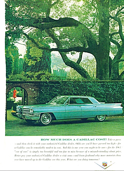 Cadillac Auto For 1963 Ad