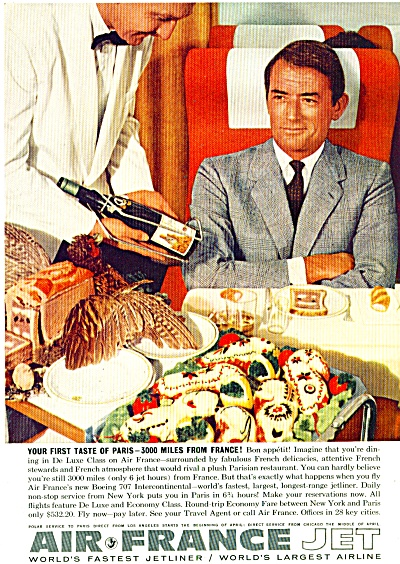 AIR FRANCE  ad - GREGORY PECK 1960 (Image1)
