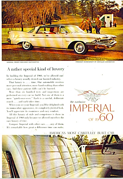 Chrysler Imperial Of 1960 Ad