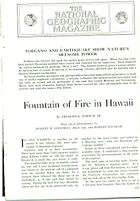 Fountain of fire in HAWAII  story - 1960 (Image1)