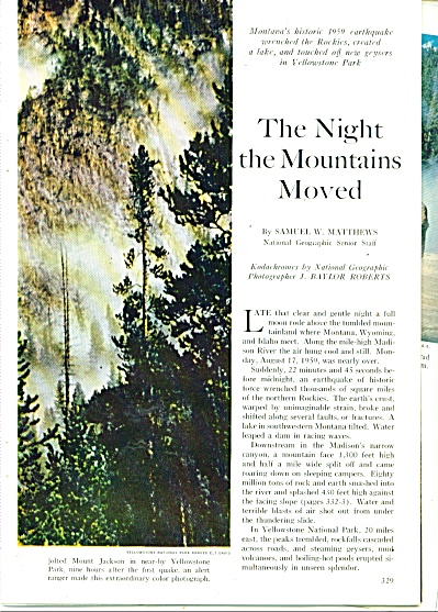 The Night the Mountains Moved story 1960 (Image1)
