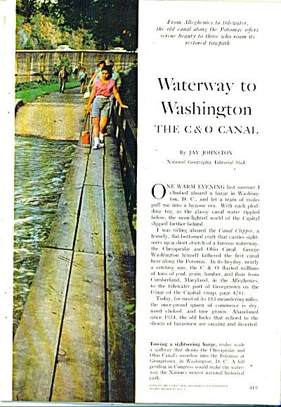 Waterway to WASHINGTON - THE C.&O.CANAL (Image1)