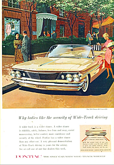 Pontiac Bonneville Convertible For 1960 Ad