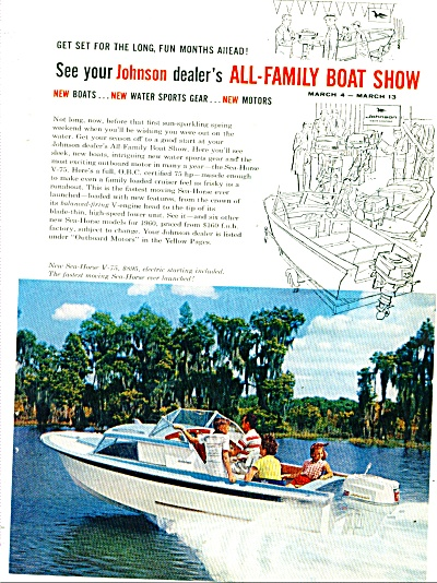Johnson boat and motors ad 1960 (Image1)