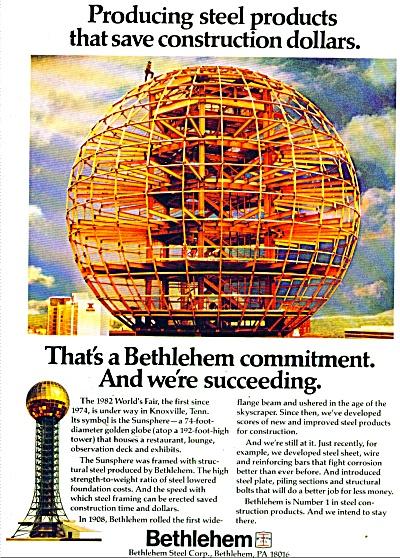Bethlehem steel Corp. ad 1982 (Image1)