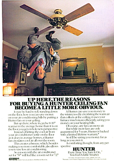 Hunter ceiling fan ad 1982 (Image1)