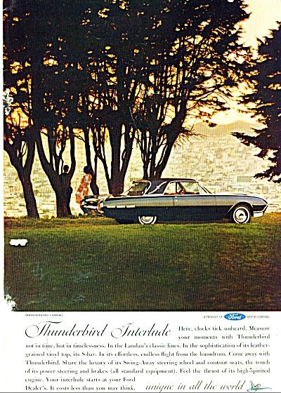 Ford Thunderbird auto ad 1962 (Image1)