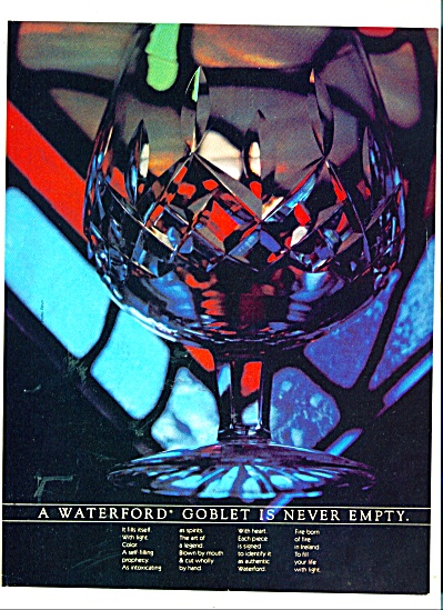 Waterford Goblet ad 1981 (Image1)
