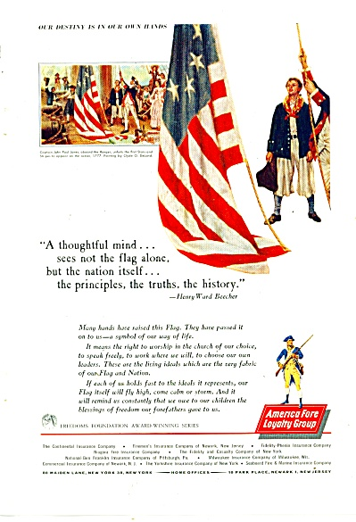 American Fore Loyalty group insuance ad 1962 (Image1)
