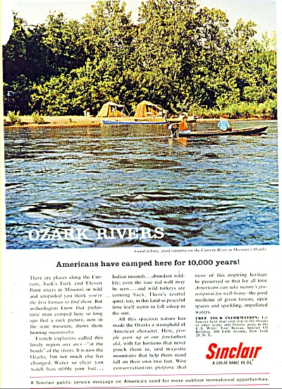 Sinclair Oil Ad 1962
