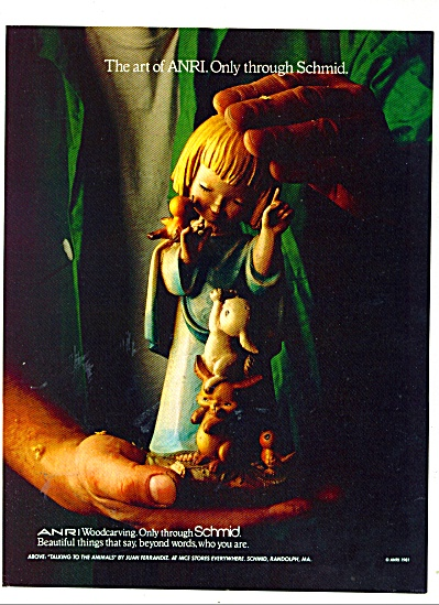 Schmid woodcarving ad 1981 (Image1)