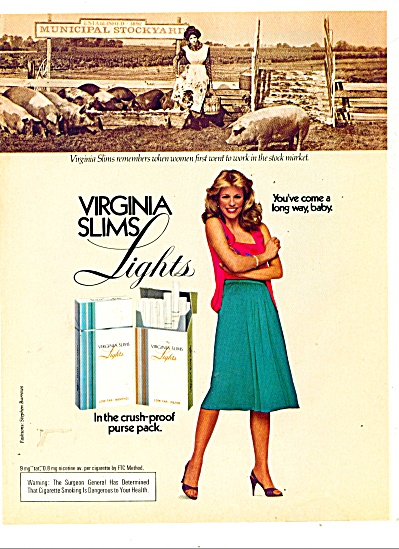 Virginia Slims lights ad 1981 (Image1)