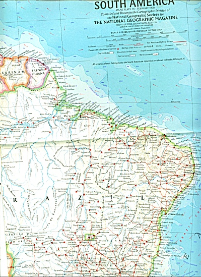 Map of SOUTH AMERICAN  - 1960 (Image1)