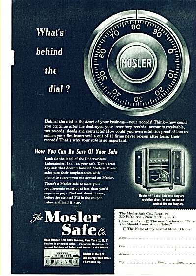 The Mosler Safe Co. ad 1949 (Image1)