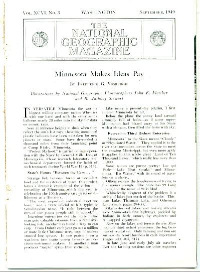 MINNESOTA makes ideas pay story 1949 (Image1)