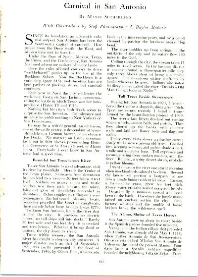 Carnival in SAN ANTONIO  story - 1947 (Image1)