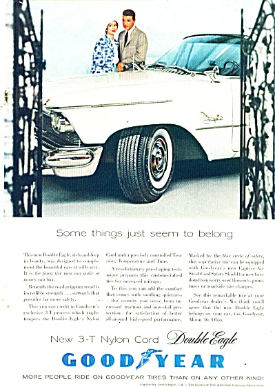 Goodyear Tires Ad 1958