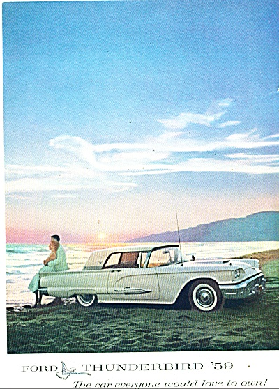 Ford Thunderbird for 1959 ad (Image1)