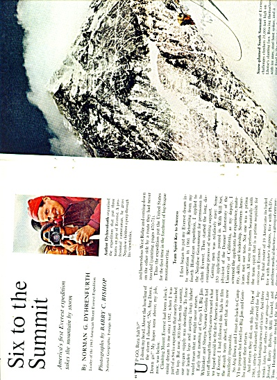 SIX TO THE SUMMIT-Mt. Everest story 1963 (Image1)